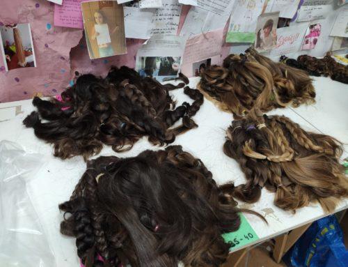 Remesa de donación de cabello a mechones solidarios