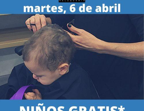Promoción especial, corte de niño y juvenil, martes 6 de abril
